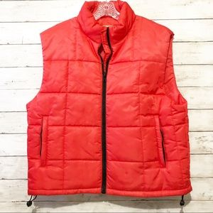 GAP men's zip up red puffer vest size large
